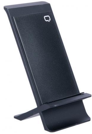 лучшая цена Беспроводное зарядное устройство Qumo PowerAid Qi X Charger 003, 10Вт (Andr) 5 Вт (App), 3 контур, вертикальное, металл, micro USB