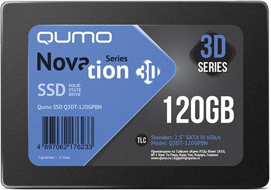 "Накопитель SSD 2.5"" 120 Gb QUMO Novation 3D TLC Read 560Mb/s Write 540Mb/s NAND"