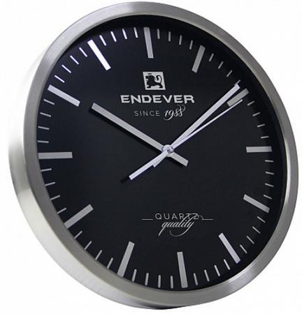 цена 110-RealTime часы настенные, серебристо-черный, кварцевый механизм,батарейка 1хАА. онлайн в 2017 году