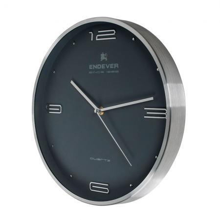 115-RealTime Часы настенные, серый, кварцевый механизм, батарейка 1хАА.