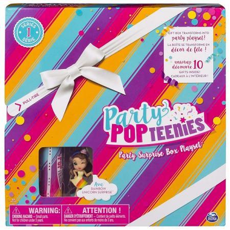 Игровой набор Party Popteenies коробка с сюрпризом игровой набор с куклой party popteenies хлопушка с сюрпризом