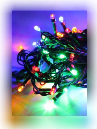 Электрогирлянда КОСМОС KOC GIR140LED RGB 15.4м 140LED гирлянда космос экономик 80 led multicolor koc gir80led rgb