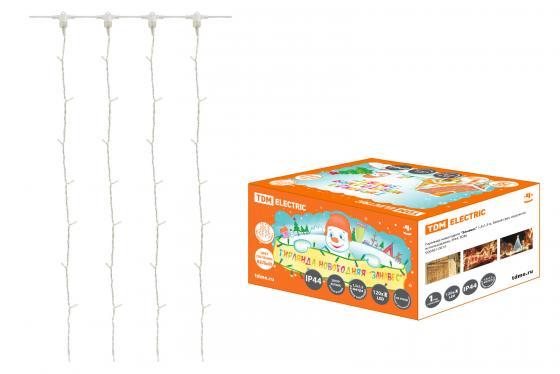 цена на Гирлянда ТДМ SQ0361-0014 новогодняя Занавес 1.5х1.5м белый свет наружное использование IP44
