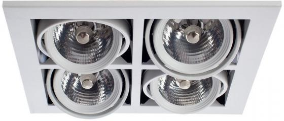 Светильник встраиваемый ARTE LAMP A5930PL-4WH CARDANI Metal L25xW25xH12 4xG5.3/4x50Вт incl. встраиваемый светильник arte lamp cardani a5930pl 4bk