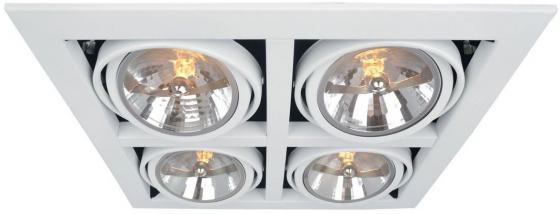 Светильник встраиваемый ARTE LAMP A5935PL-4WH CARDANI L37.8xW37.2xH14 отверстие 33.5x33.5мм 4xG5.3 цена и фото
