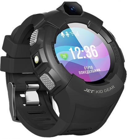 Jet Kid Gear grey/black Умные детские часы детские умные часы jet kid connect pink