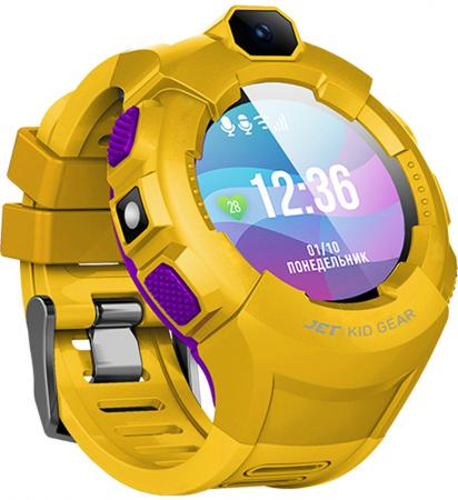 Jet Kid Gear yellow/purple Умные детские часы цена и фото