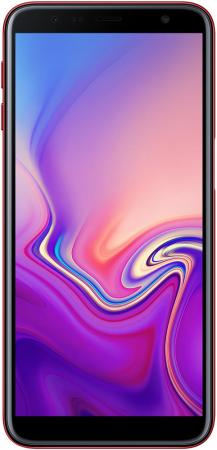 Смартфон Samsung Galaxy J6+ 2018 красный 6 32 Гб NFC LTE Wi-Fi GPS 3G Bluetooth SM-J610FZRNSER смартфон samsung galaxy j6 2018 золотистый 5 6 32 гб lte wi fi gps 3g
