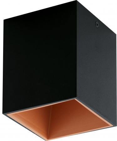 Светильник настенно-потолочный EGLO POLASSO 94496 1X3.3W LED алюминий пластик черный медный