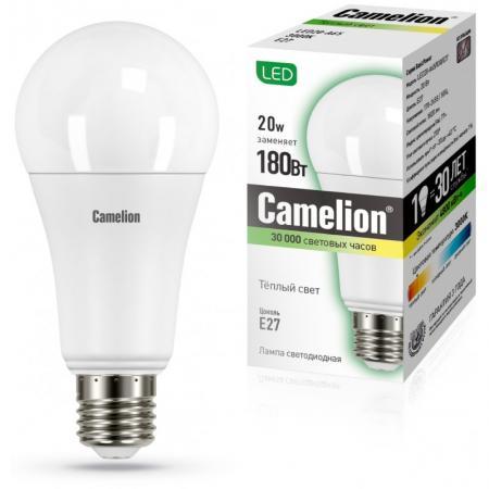 Лампа светодиодная груша Camelion 13164 E27 20W 3000K
