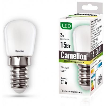 Лампа светодиодная цилиндрическая Camelion 13153 E14 2W 3000K лампа накаливания цилиндрическая camelion mic 15 p cl e14 e14 15w 2700k