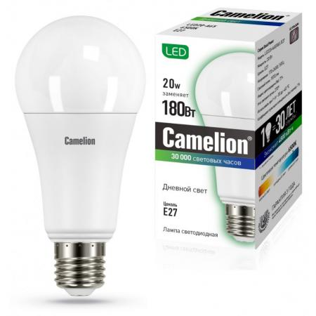 Лампа светодиодная груша Camelion 13166 E27 20W 6500K