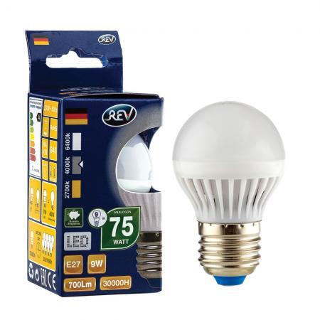 Лампа светодиодная REV RITTER 32409 6 g45 е27 9w 4000k холодный свет лампа светодиодная rev deco premium filament g45 32485 0 холодный свет цоколь e27 7 вт