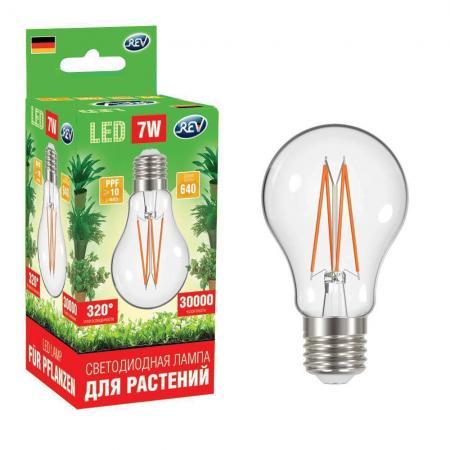 Лампа светодиодная REV RITTER 32416 4 garden для ускорения роста растений а60 e27 7w filament цена