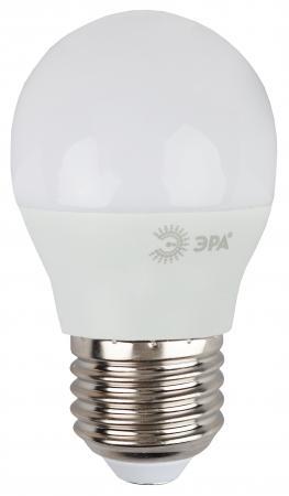 Лампа светодиодная шар Эра P45-9w-827-E27 E27 9W 2700K лампа энергосберегающая спираль ecowatt mini sp 15w 827 e27 e27 15w 2700k