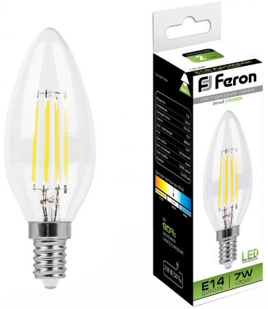 Лампа светодиодная FERON 25780 (7W) 230V E14 4000K, LB-66