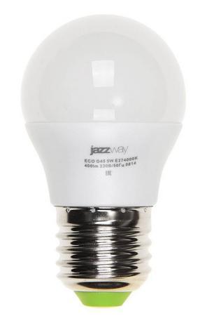 Лампа светодиодная JAZZWAY PLED-ECO-G45 5Вт e27 4000k 400лм