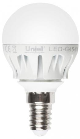 цена на Лампа светодиодная шар Uniel LED-G45-6W/NW/E14/FR/DIM E14 6W