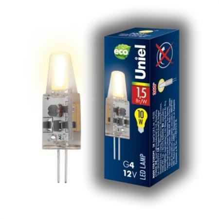 Лампа светодиодная капсульная Uniel LED-JC-12/1,5W/WW/G4/CL G4 1.5W 3000K лампа светодиодная капсульная camelion led2 5 jc sl 830 g4 g4 2 5w 3000k