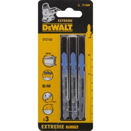 Пилки для лобзика DeWALT DT2150-QZ по металлу BIM EXTREME T 118 AF, 3шт.