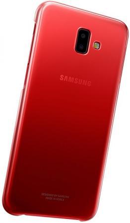 Чехол (клип-кейс) Samsung для Samsung Galaxy J6+ (2018) Gradation Cover красный (EF-AJ610CREGRU) цена и фото