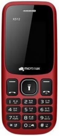 """Мобильный телефон Micromax X512 32Mb красный моноблок 2Sim 1.77"""" 128x160 0.08Mpix BT GSM900/1800 MP3 FM microSD max8Gb"""
