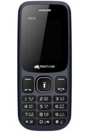"""Мобильный телефон Micromax X512 32Mb синий моноблок 2Sim 1.77"""" 128x160 0.08Mpix BT GSM900/1800 MP3 FM microSD max8Gb"""