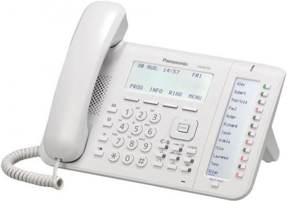 Телефон IP Panasonic KX-NT556RU белый цена и фото