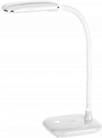 ЭРА Б0018825 Настольный светодиодный светильник NLED-450-5W-W белый {цвет. температура 3000К} эра б0004477 настольный светодиодный светильник nled 435 4w bk черный на прищепке цвет температура 3000к