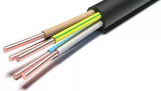 Кабель силовой ВВГзнг(А) Калужский кабельный завод 5x1.5 мм круглый 100м черный ГОСТ кабель ввгп нг 2х2 5 мм на отрез гост