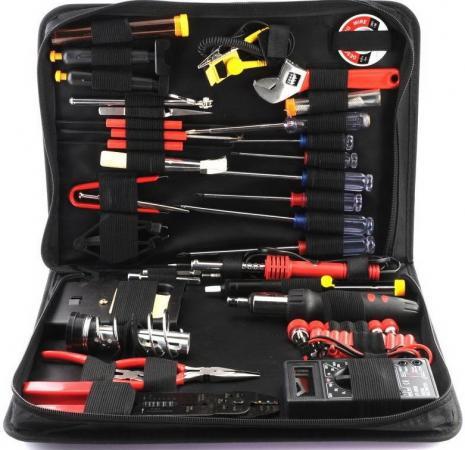 Gembird TK-ELEC(C) набор инструментов (63 предметов)