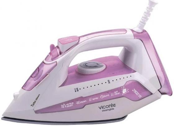 лучшая цена Утюг Viconte VC-436 2900Вт розовый