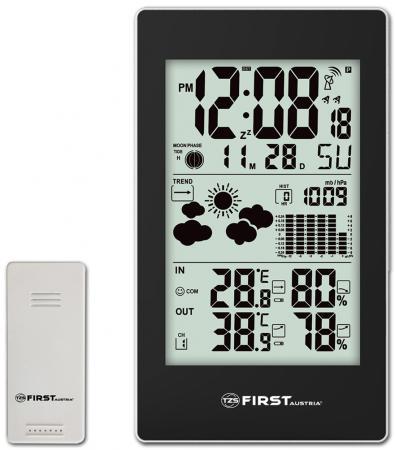 2460-4-BA Метеостанция FIRST, беспроводной датчик, комнатная и уличная темп., влажность, давление.
