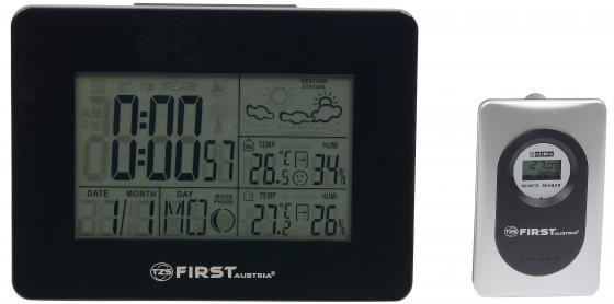 2461-BA Метеостанция FIRST, часы, будильник, комнатная/уличная темп., влажн.беспровод.датчик Black цены