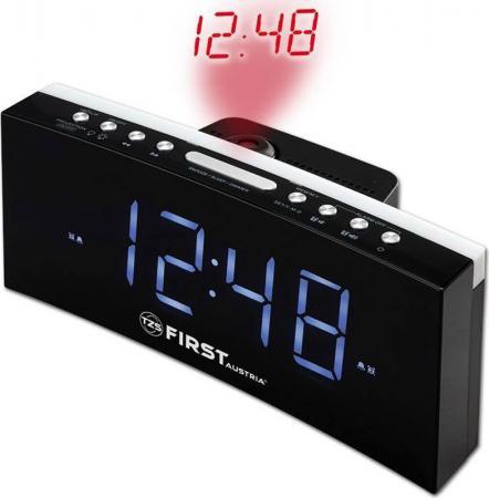 2420-4 Радиочасы FIRST, LCD-дисплей 1.8'' (синий).Тюнер: цифровой, FM с памятью.Black. цена