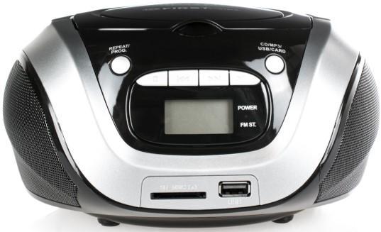 1154-3-GR Магнитолы CD/USB FIRST Мощность 2х1.2 Вт, стерео.Подключение наушников.ЖК-дисплей.