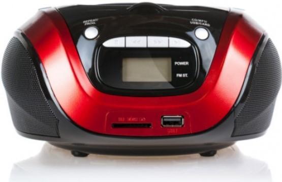 1154-3-RE Магнитолы CD/USB FIRST Мощность 2х1.2 Вт, стерео.Подключение наушников.ЖК-дисплей. цена