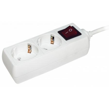 Iek WYP10-16-02-05-ZK-N Удлинитель У02К-выкл. 2 места 2Р+РЕ/5 метров 3х1мм2 16А/250 IEK цена