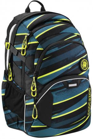Школьный рюкзак светоотражающие материалы Coocazoo JobJobber2: Wild Stripe 30 л черный бирюзовый 00183620 школьный рюкзак светоотражающие материалы coocazoo carrylarry2 green purple district 30 л синий бирюзовый 00138740