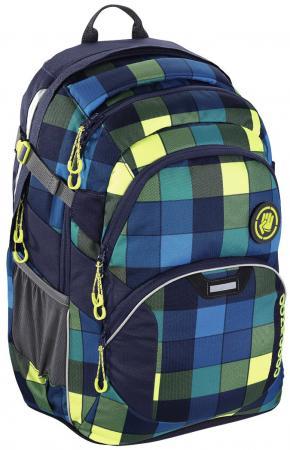 Школьный рюкзак светоотражающие материалы Coocazoo JobJobber2: Lime District 30 л синий желтый 00138722 рюкзак coocazoo jobjobber2 green purple district синий бирюзовый