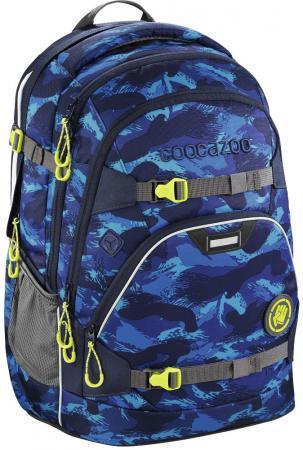 Школьный рюкзак светоотражающие материалы Coocazoo ScaleRale: Brush Camou 30 л синий 00183612