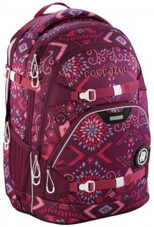 Школьный рюкзак светоотражающие материалы Coocazoo ScaleRale: Tribal Melange 30 л бордовый 00183611 школьный рюкзак светоотражающие материалы coocazoo carrylarry2 green purple district 30 л синий бирюзовый 00138740