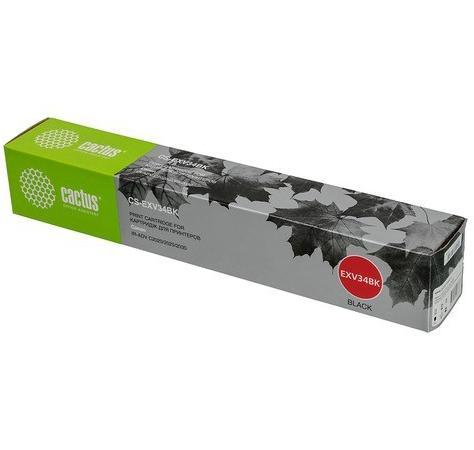 Тонер Картридж Cactus CS-EXV34BK черный (23000стр.) для Canon IR Advance C2030L/C2030i/C2020L/C2020i/C2025i