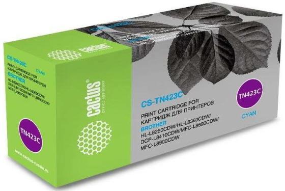 Тонер Картридж Cactus CS-TN423C голубой (4000стр.) для Brother DCP L8410CDW/HL L8260CDW/MFC L8690CDW