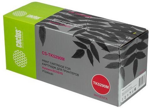 Фото - Тонер Картридж Cactus CS-TK5290M пурпурный (13000стр.) для Kyocera Ecosys P7240cdn картридж cactus cs q7551x cs q7551xs для laserjet p3005 m3035mfp m3027mfp 13000стр