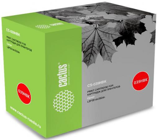 Тонер Картридж Cactus CS-039HBK черный (25000стр.) для Canon LBP 351x i-Sensys /352x i-Sensys цены онлайн