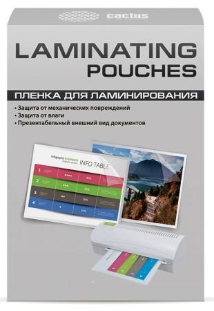 Пленка для ламинирования Cactus 125мкм A7 (100шт) глянцевая 75x105мм CS-LPGA7125100 пленка
