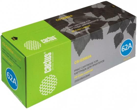 Тонер Картридж Cactus CS-Q3962AR желтый (4000стр.) для HP LJ 2550/2550L/2550LN/2550N цена в Москве и Питере