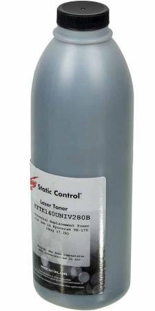 Фото - Тонер Static Control KYTK140UNIV280B черный флакон 280гр. для принтера Kyocera FS1030/1100/1120/1300 тонер static control trhm606 1160bos черный флакон 1160гр для принтера oki b431