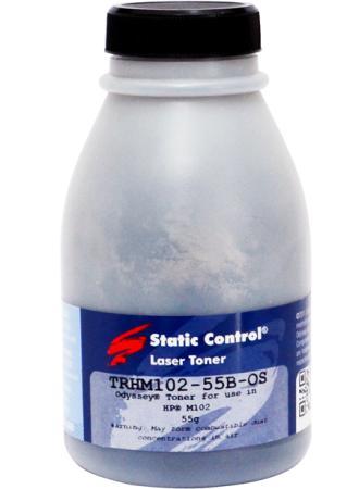 цена Тонер Static Control TRHM102-55B-OS черный флакон 55гр. для принтера HP LJ M104/M132 онлайн в 2017 году